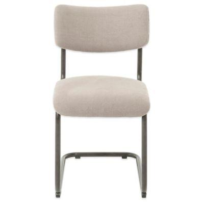 Beekman 1802 Chalybeate Side Chair in Belgian Linen and Velvet Back