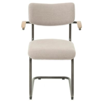 Beekman 1802 Chalybeate Arm Chair in Belgian Linen and Velvet Back