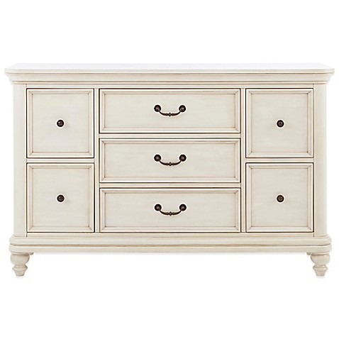 Buy Pulaski Madison 7 Drawer Dresser In Antique White From Bed Bath Beyond