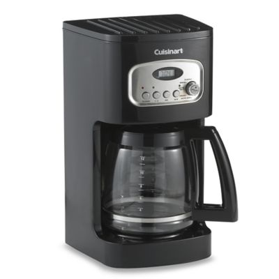 Single Coffee Maker Bed Bath And Beyond : Buy Cuisinart 12-Cup Programmable Coffee Maker in Black from Bed Bath & Beyond