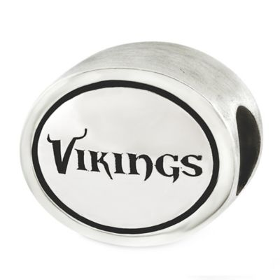 Sterling Silver NFL Minnesota Vikings Antiqued Charm Bead