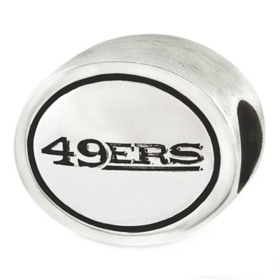 Sterling Silver NFL San Francisco 49ers Antiqued Charm Bead