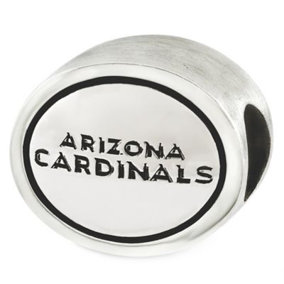 Sterling Silver NFL Arizona Cardinals Antiqued Charm Bead