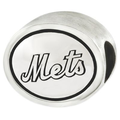 Sterling Silver MLB New York Mets Antiqued Bead