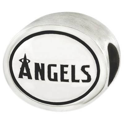 Sterling Silver MLB Los Angeles Angels Antiqued Bead