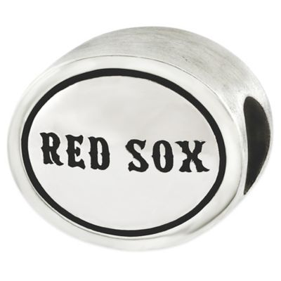 Sterling Silver MLB Boston Red Sox Antiqued Bead