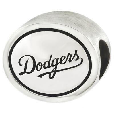 Sterling Silver MLB Los Angeles Antiqued Bead
