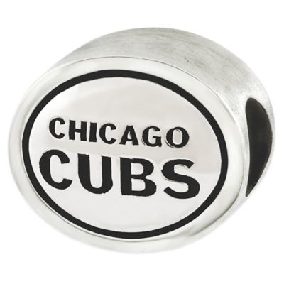 Sterling Silver MLB Chicago Cubs Antiqued Bead