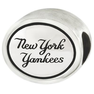 Sterling Silver MLB New York Yankees Antiqued Bead