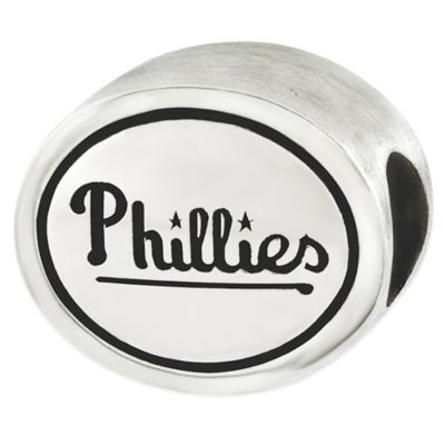 Sterling Silver MLB Philadeliphia Phillies Antiqued Bead