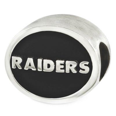 Sterling Silver NFL Oakland Raiders Enameled Bead
