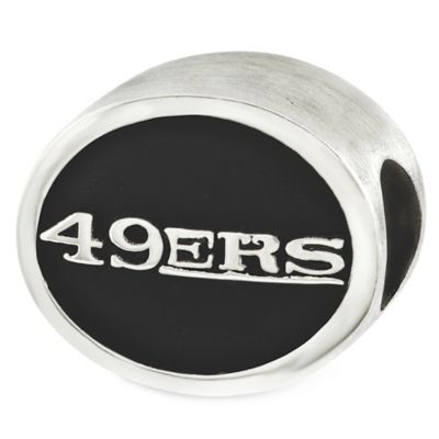 Sterling Silver NFL San Francisco 49ers Enameled Bead
