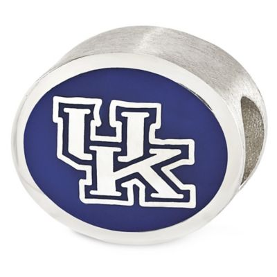 Sterling Silver Collegiate University of Kentucky Enameled Charm Bead