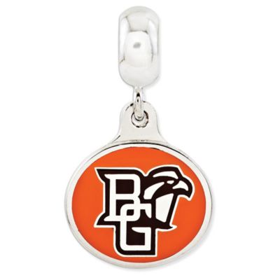 Sterling Silver Collegiate Bowling Green State University Enameled Dangle Charm Bead