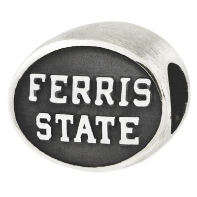 Sterling Silver Collegiate Ferris State University Antiqued Charm Bead