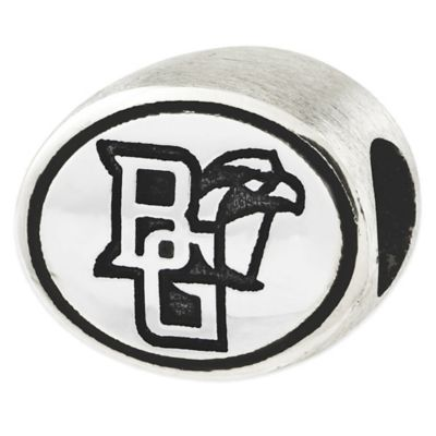 Sterling Silver Collegiate Bowling Green University Antiqued Charm Bead