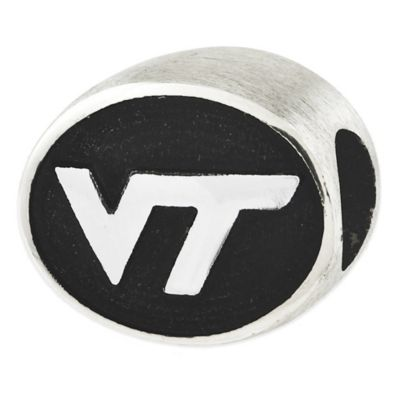 Sterling Silver Collegiate Virginia Tech Antiqued Charm Bead