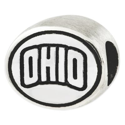 Sterling Silver Collegiate Ohio University Antiqued Charm Bead