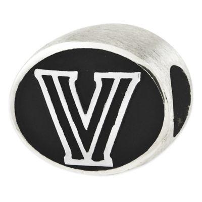 Sterling Silver Collegiate Villanova University Antiqued Charm Bead