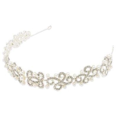 Amy O. Bridal Opulent Crystal Pearl Deco Headband