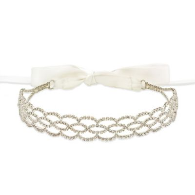 Amy O. Bridal Ellipse Crystal Bridal Headband