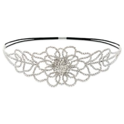 Amy O. Bridal Delicate Crystal Blossom Headband