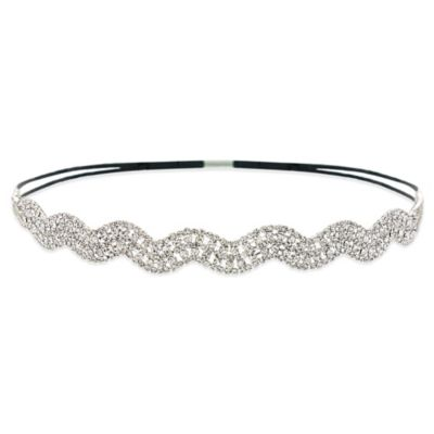 Amy O. Bridal Crystal Wave Headband