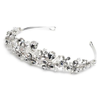Nicolette Swarovski® Crystal and Rhinestone Tiara in Silvertone
