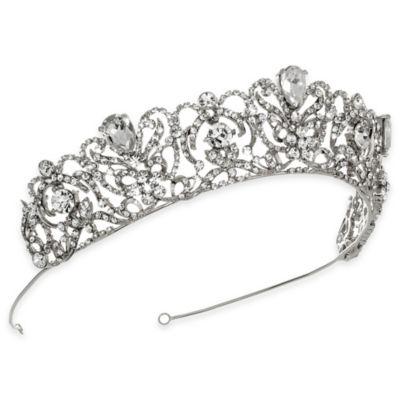 Silver Romance Rhinestone Bridal Crown