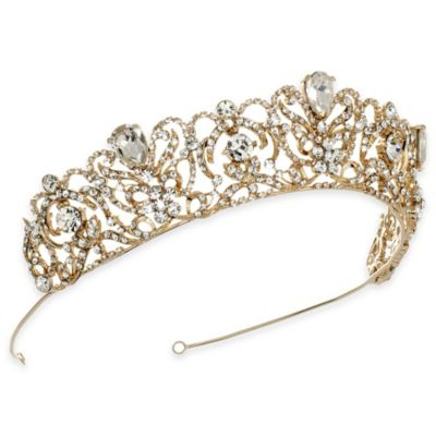 Gold Romance Rhinestone Bridal Crown