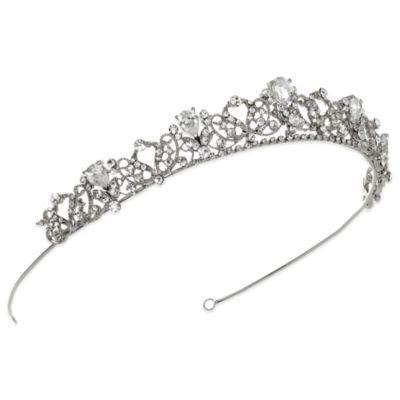 Petite Swirling Rhinestone Tiara Bridal Accessories