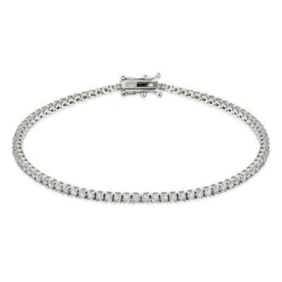 14K White Gold 2.0 cttw Diamond 7-Inch Tennis Bracelet