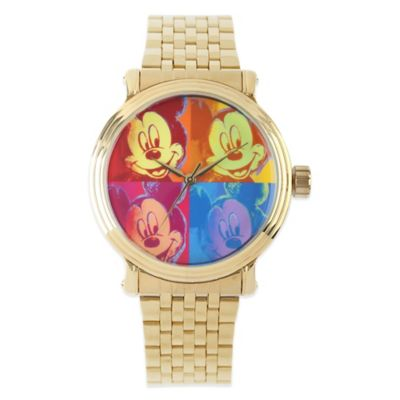 Disney® Mickey Mouse 43mm Men's Vintage Watch in Gold