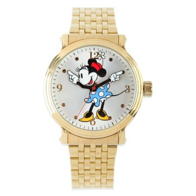 Disney® Minnie Mouse Ladies' 43mm Dancing Arms Watch in Gold