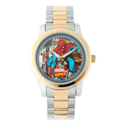 Marvel Men's 38mm Spider-Man Watch in Two-Tone Stainless Steel