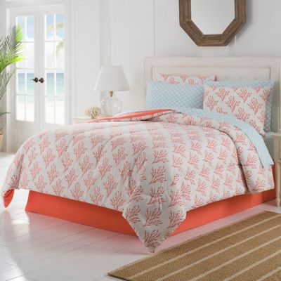 Isla 6-Piece Twin Comforter Set in Coral