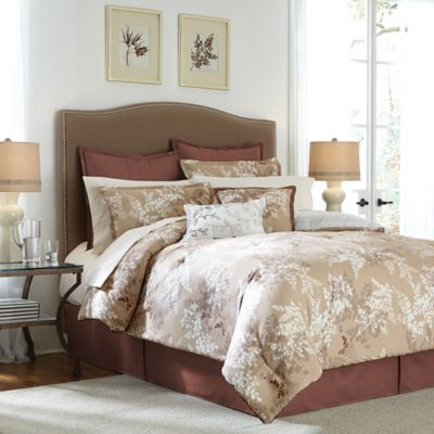 Langley 12-Piece Full Comforter Set in Sable