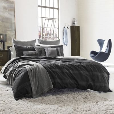 Kenneth Cole Reaction Home Obsidian European Pillow Sham in Black