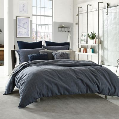 Kenneth Cole Reaction Home Douglas Reversible Twin Duvet Cover in Blue Plaid