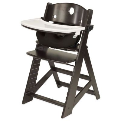 Keekaroo® Height Right High Chair Espresso with Black Infant Insert and Tray