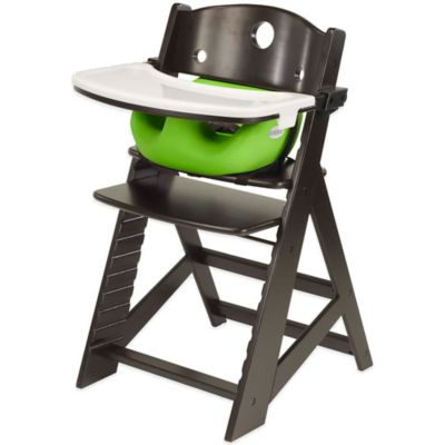 Keekaroo® Height Right High Chair Espresso with Lime Infant Insert and Tray