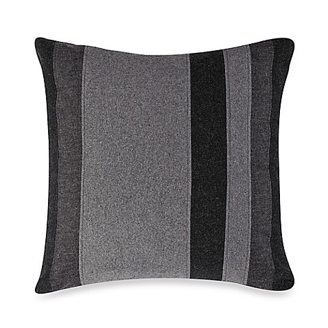 Throw Pillow Material : Kenneth Cole Reaction Home Obsidian Mixed Material Oblong Throw Pillow in Black/Grey - Bed Bath ...