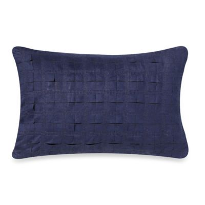 Kenneth Cole Reaction Home Douglas Oblong Throw Pillow in Navy