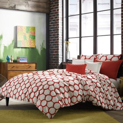 Studio 3B™ by Kyle Schuneman Beckett King Duvet Cover in Rust