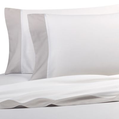 kate spade new york Grace King Sheet Set in Platinum
