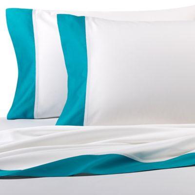 kate spade new york Grace King Sheet Set in Turquoise
