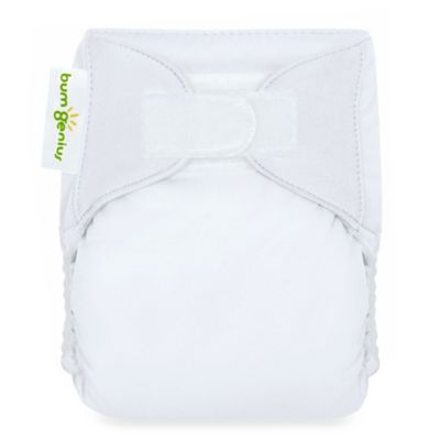 bumGenius™ All-In-One Newborn X-Small Stay Dry Cloth Diaper in White