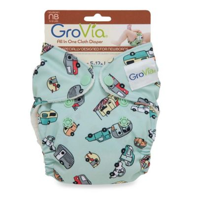 GroVia® Newborn All-in-One Cloth Diaper in Adventure
