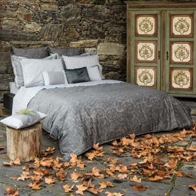 Belle Epoque Home Concept Rainfall King Duvet Cover in Grey