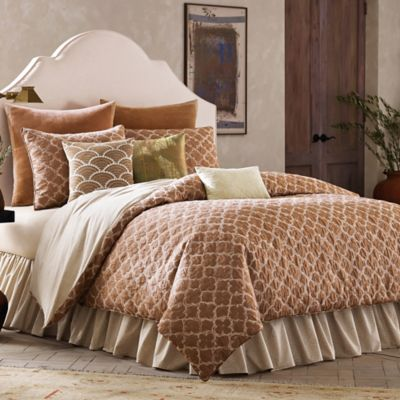 BiniChic Terracotta Reversible King Comforter Set in Terracotta